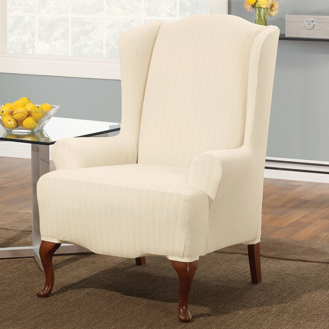 chairs for decoration and best ottoman home chair slipcovers wingback slipcover