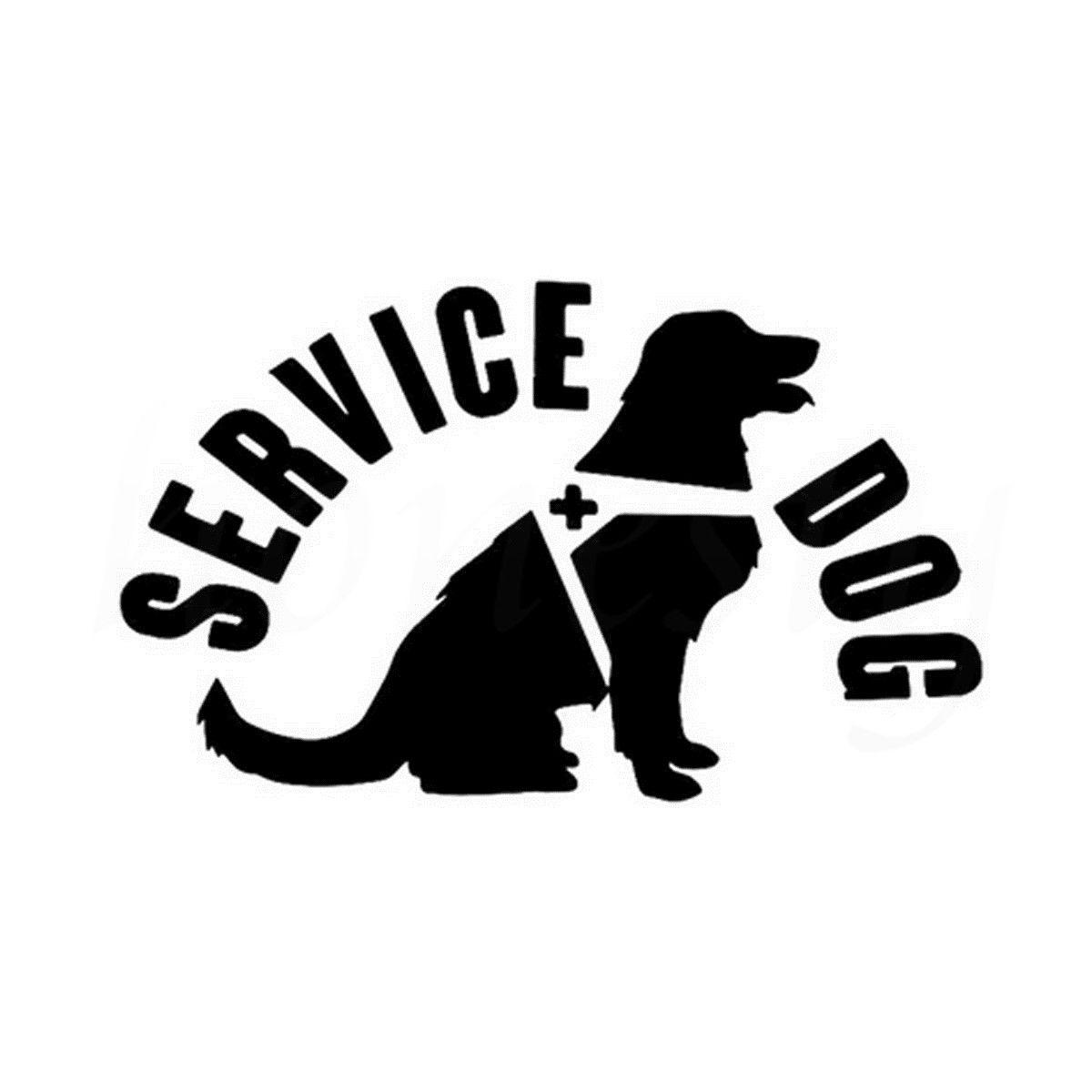 Service Dog Animal Car Sticker Wall Home Glass Window Door