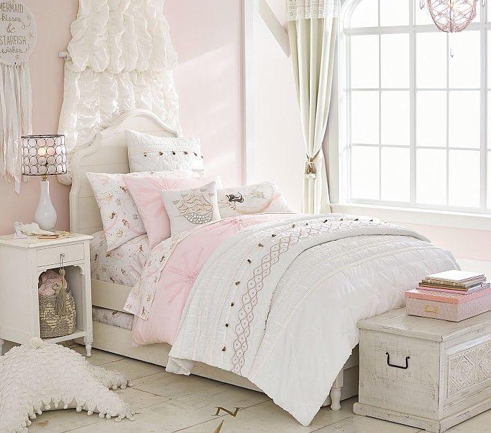 Juliette Twin Bed Classic Mattress French White Girls