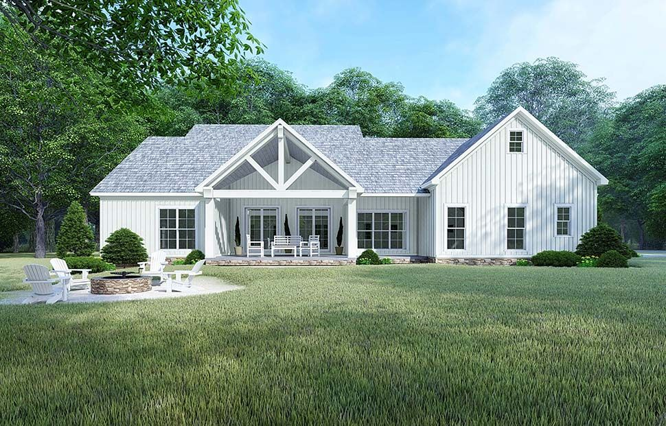 Traditional Style House Plan 82525 With 4 Bed 4 Bath 2 Car Garage Modern Farmhouse Plans Country Style House Plans Farmhouse Plans
