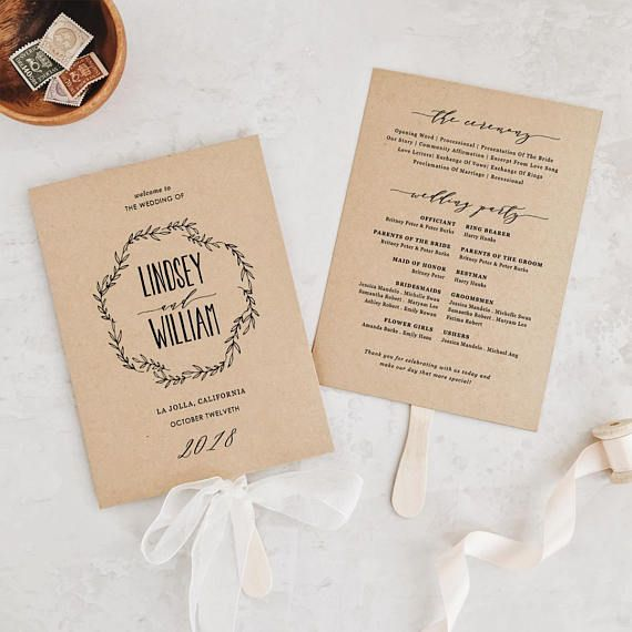 Image Result For Order Of Service Wedding Template Civil Ceremony