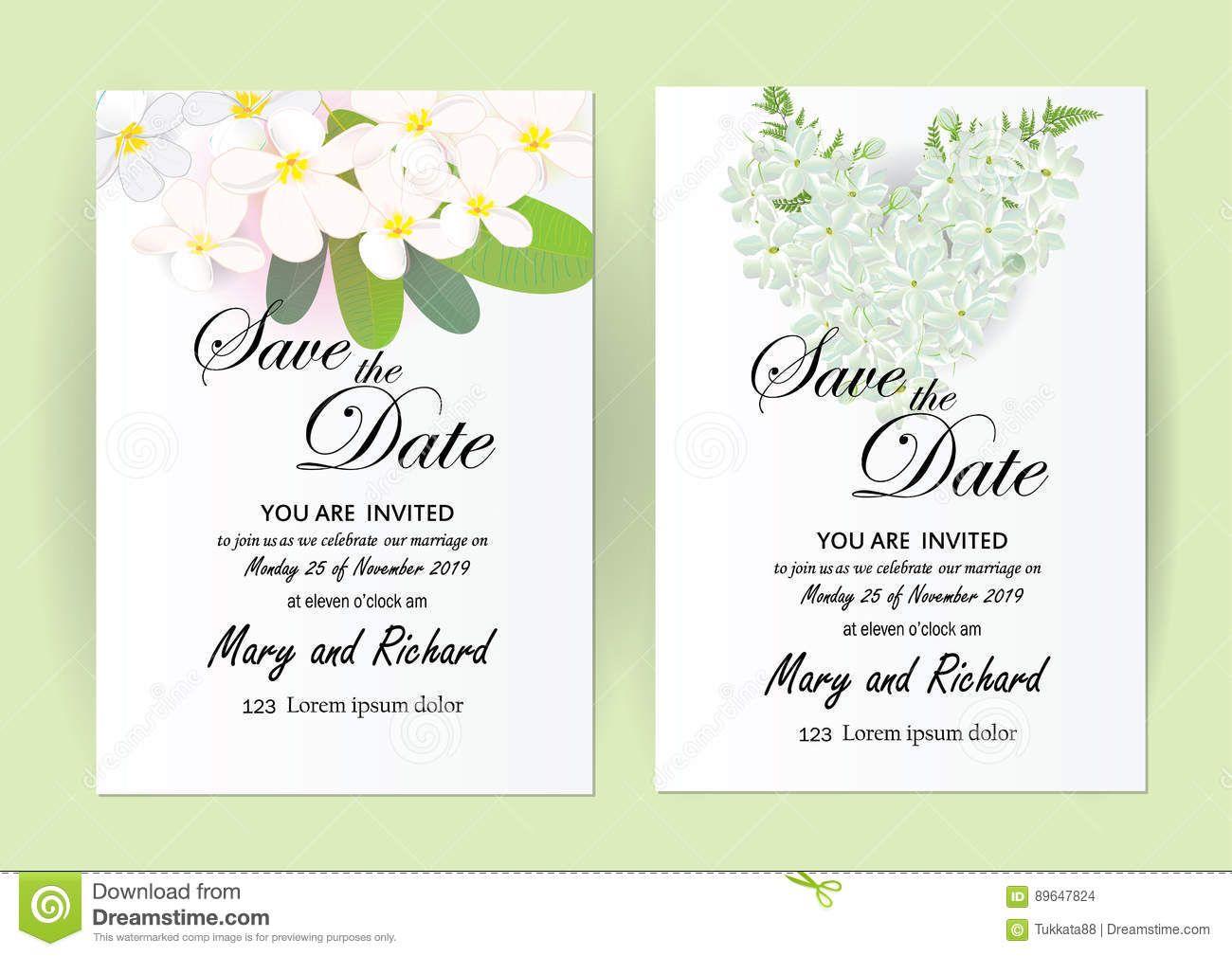 Wedding Invitation Card Flowers Jasmine Stock Vector Throughout Wedding Card Size Template Professional Wedding Cards Marriage Cards Wedding Invitation Cards
