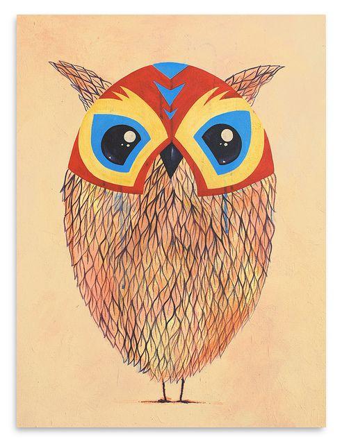 El Buho The Owl Owl Animal Wallpaper Serigraph
