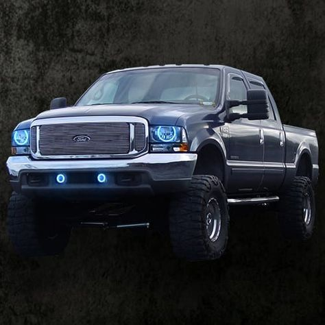 1999 2004 F 250 F 350 Colormorph Halo Headlight Kit By Led Concepts Lighting Led Concept Ford Ford Super Duty