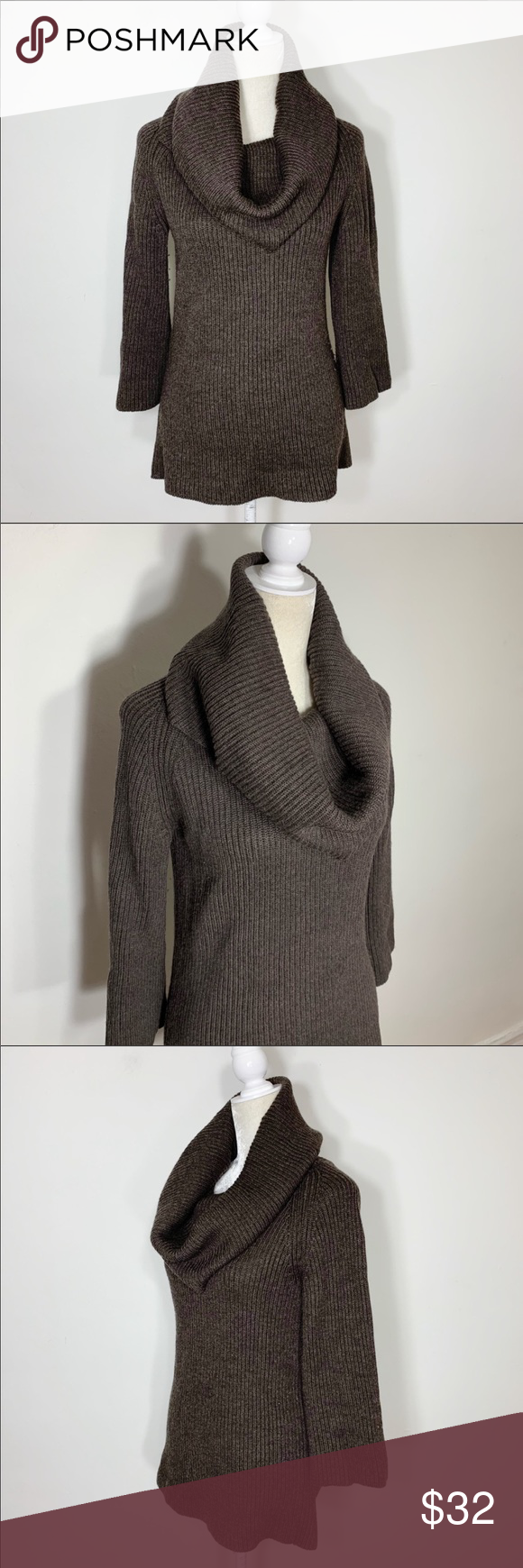 e34c7fca736b Banana Republic • 3 4 sleeve cowl knit sweater Great pre-owned condition!