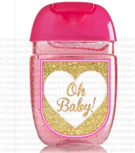 Gold Themed Baby Shower Baby Shower Hand Sanitizer Hand