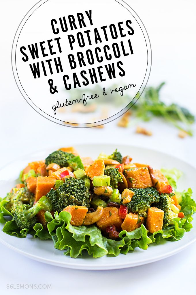 Curry Sweet Potatoes With Broccoli And Cashews Vegan Glutenfree