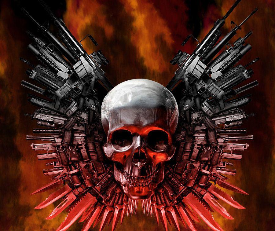 Cool Skull army skull Skull wallpaper, Bike art