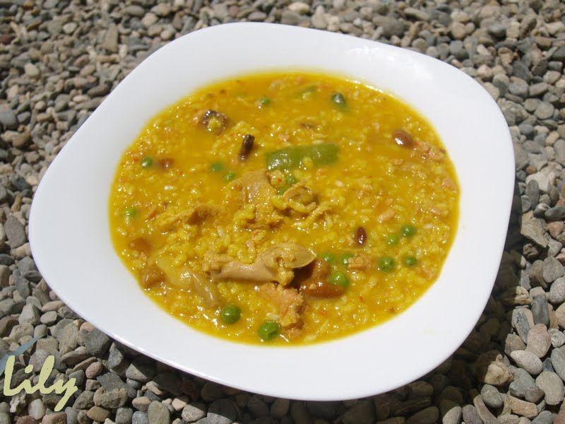 Arroz Caldoso Con Setas Y Pollo deliciós mos: arroz integral caldoso de pollo, verduras y setas