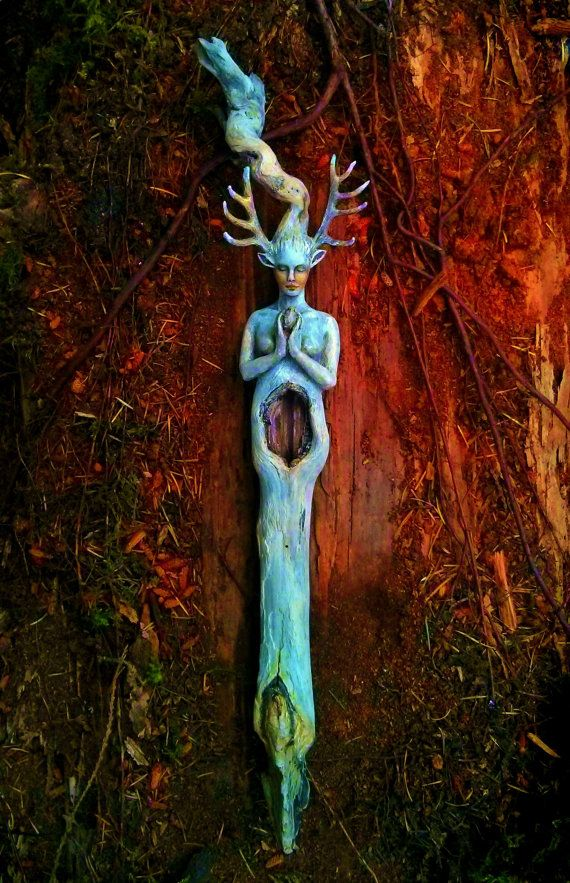 Reserved for Lashlee,  Second Payment, Forest Child, Nature Talking Stick, Fawn Woman, Driftwood Sculpture