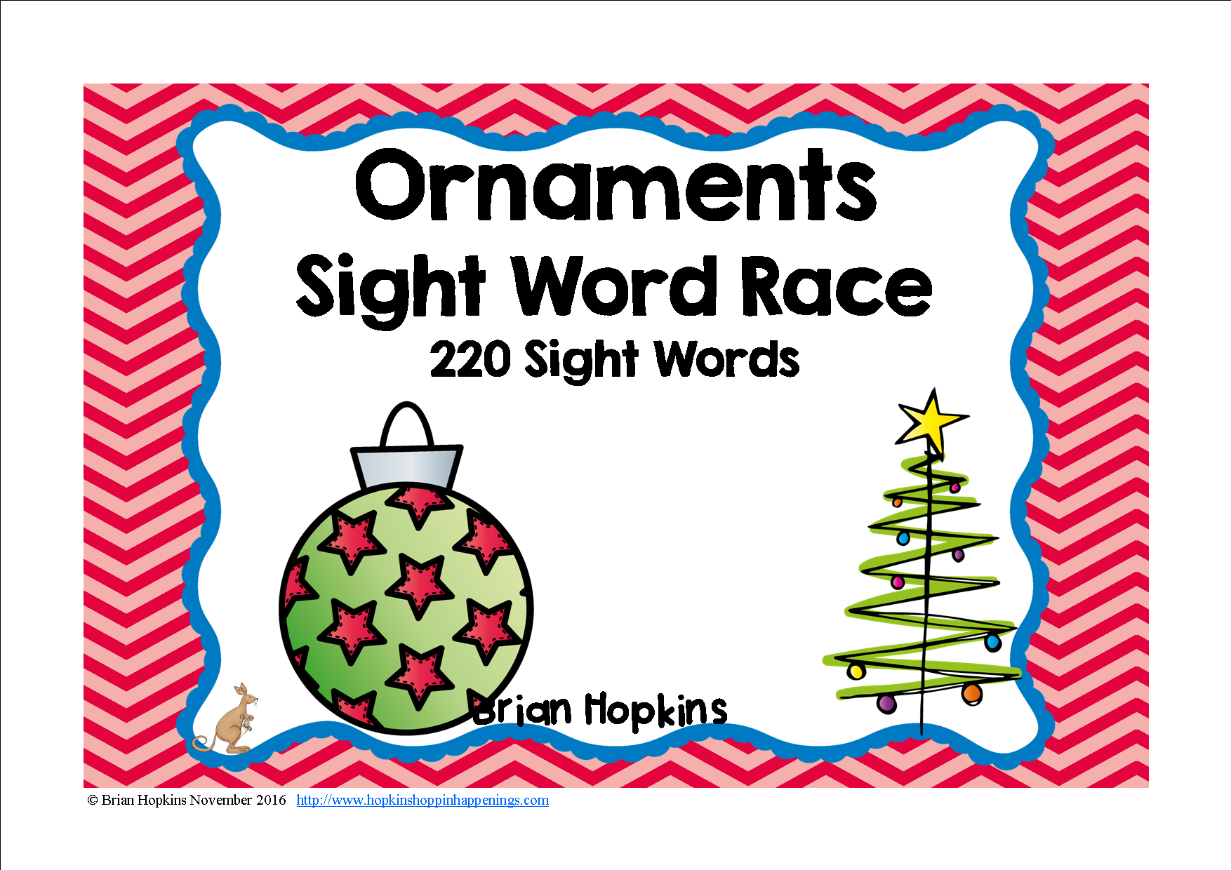 Ornament Sight Word Race