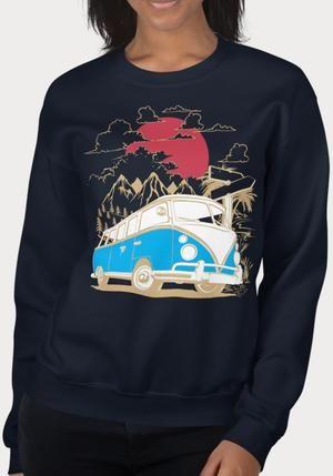 Sweat-shirt Combi Mountain Sunset pour femme   – Collection Femme