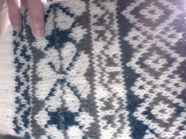 Swatch from Alice Starmore's Book of Fair Isle Knitting. It's my ...