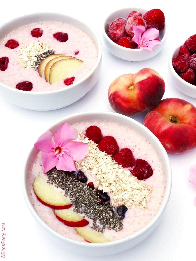 Épinglé Sur Creamy Peach Smoothie: Peach & Berries Smoothie Bowl Recipe
