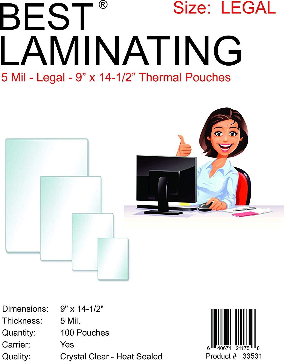 Best Laminatinga 5 Mil Clear Legal Size Thermal Laminating Pouches 9 X 14 5 Qty 100 For More Information Vi With Images Interactive Learning Lettering Teaching