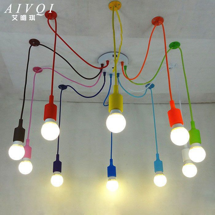Aliexpress.com : Buy Silicone Colorful Pendant Lights DIY Multi ...