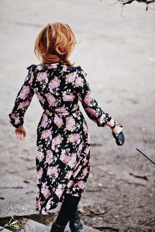 1970's Style Vintage High Waist Dress by springjuste.etsy.com