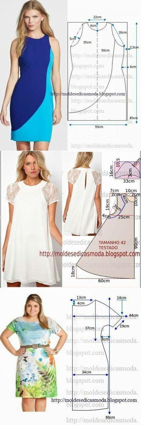 Los patrones simples de los vestidos veraniegos | ropa de chicas ...