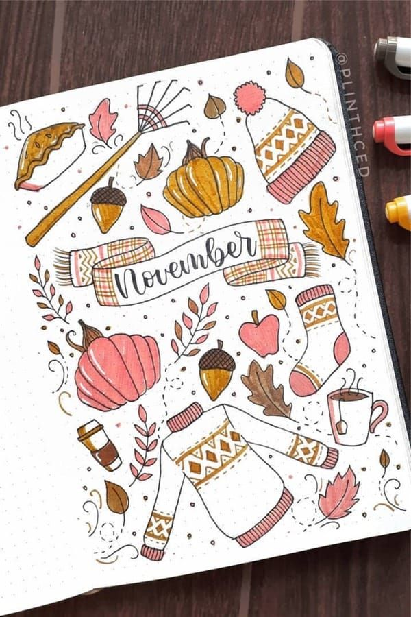 30+ Best Fall Theme Bullet Journal Spread Ideas For 2020 - Crazy Laura #examplesofgoals
