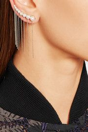 + Sacai 14-karat gold freshwater pearl earring