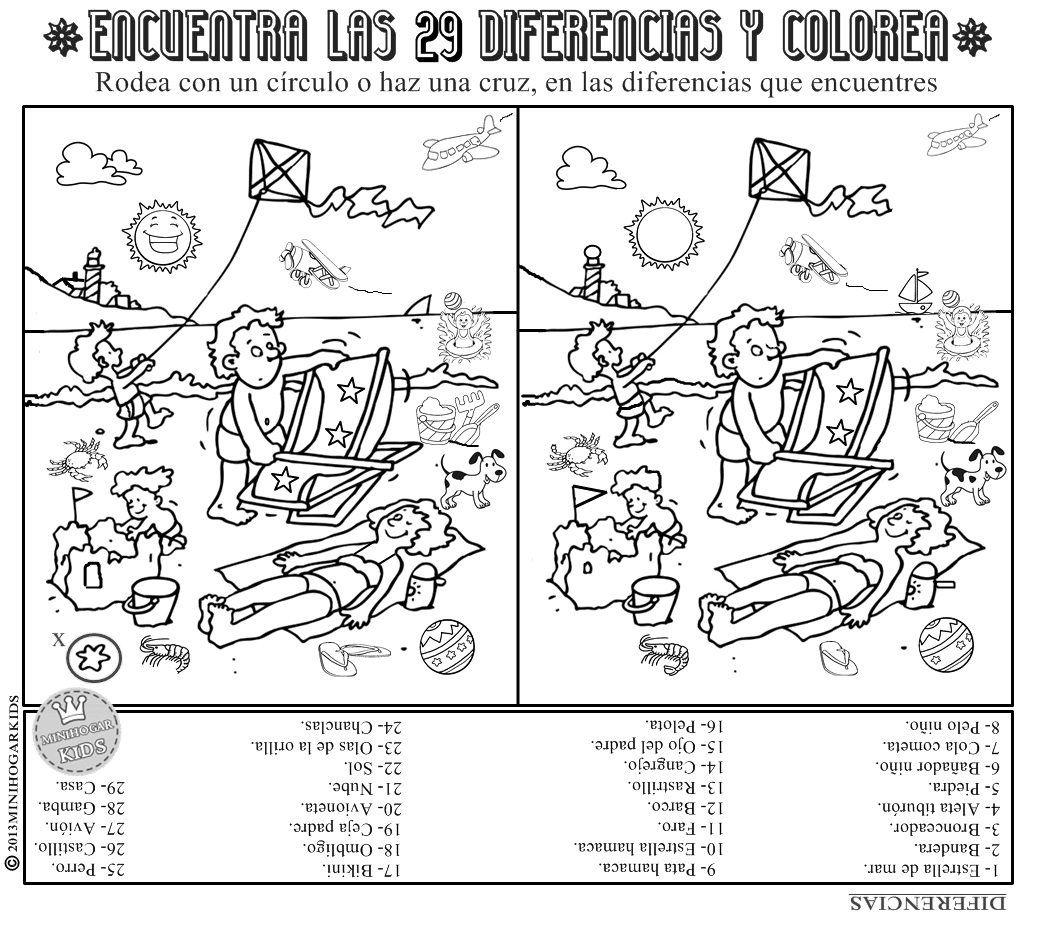 Minihogar kids lots of spanish printable activities - Ilusiones opticas para imprimir ...