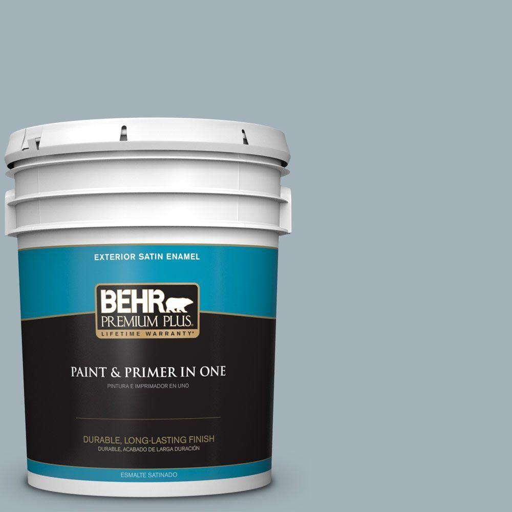 BEHR Premium Plus 5-gal. #ppf-27 Porch Ceiling Satin Enamel Exterior Paint, Ppf-27 Porch Ceiling Satin