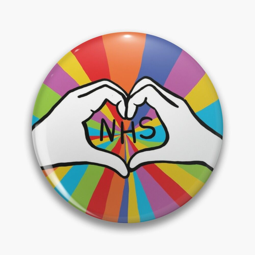 'Thank You, We Love You NHS' Pin Button By Highdown73 In