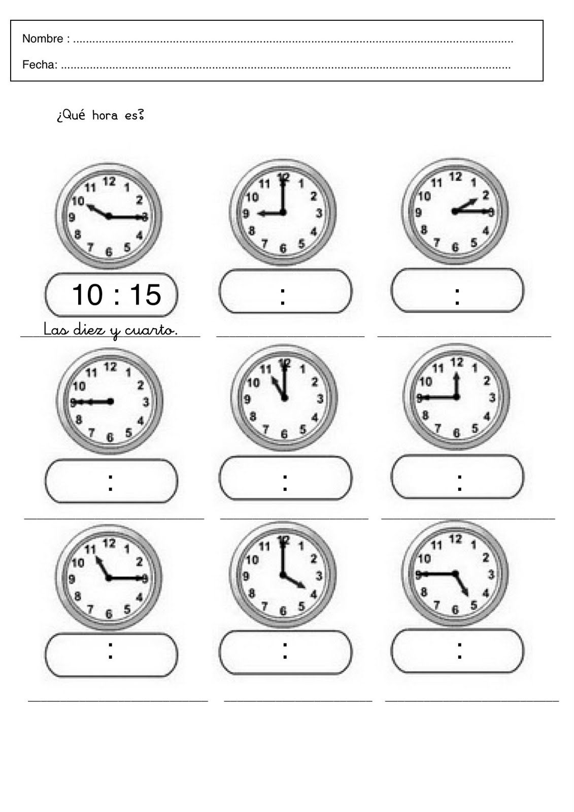 Fichas Infantiles De Trabajar Las Horas Gratis Descargar Fichas Y Laminas De Aprender L Fichas De Matematicas Matematicas Tercero De Primaria Aprender La Hora