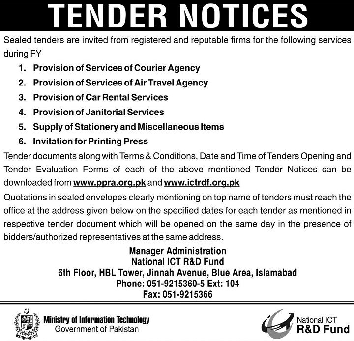 Dec  JangDawnExpress Newspaper Tenders Ads In Pakistan