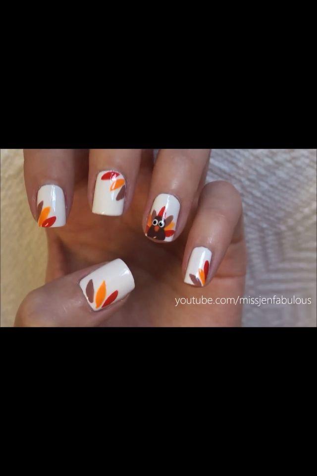 Photo of Thanksgiving Nail Art! :) Weitere Ideen für N.
