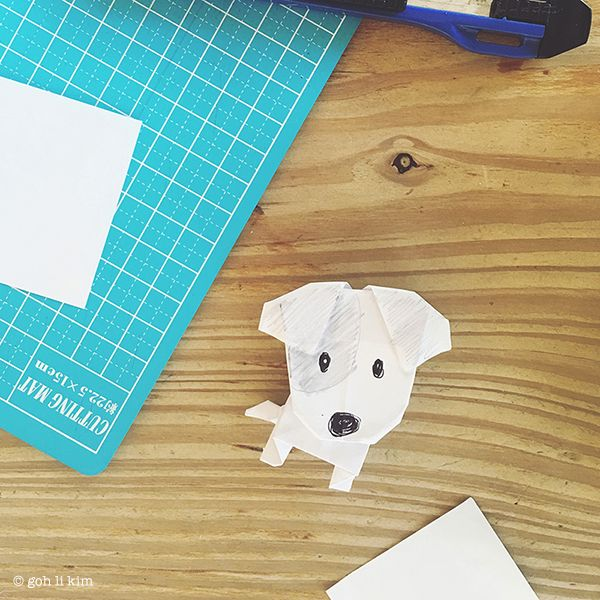 Photo of Origami dog – Jack Russell Terrier