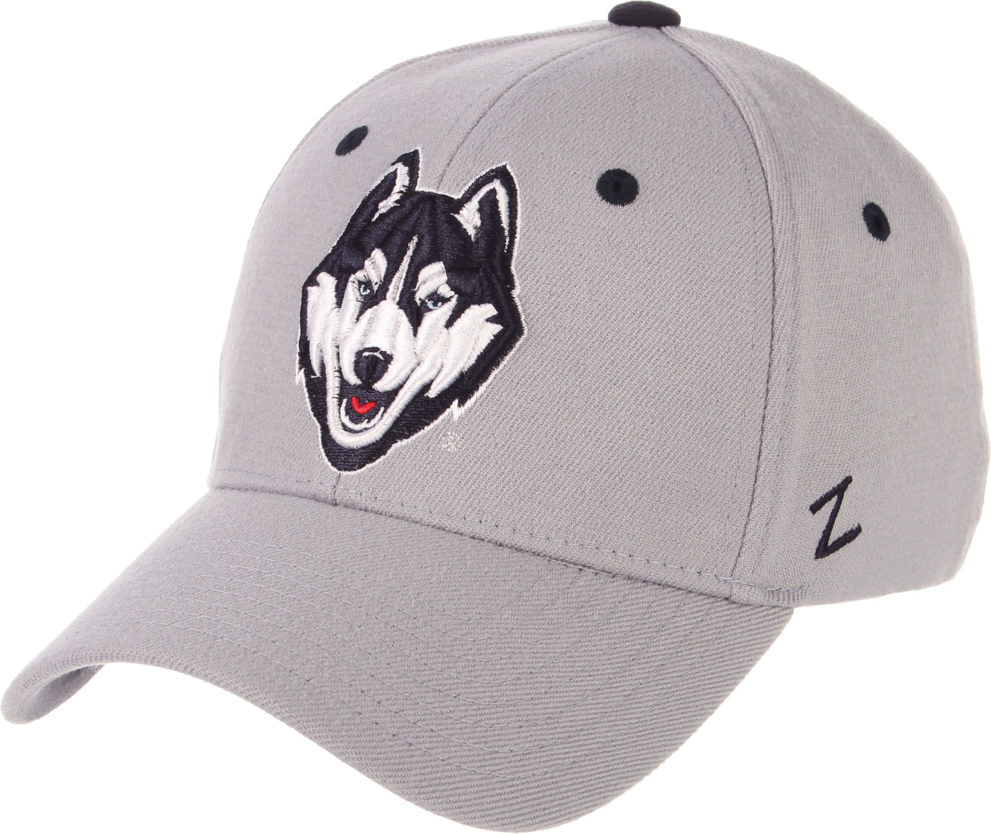 best loved 2121f 1c14c Zephyr Men s UConn Huskies Grey Wool Fitted Hat, Size  Small, Team