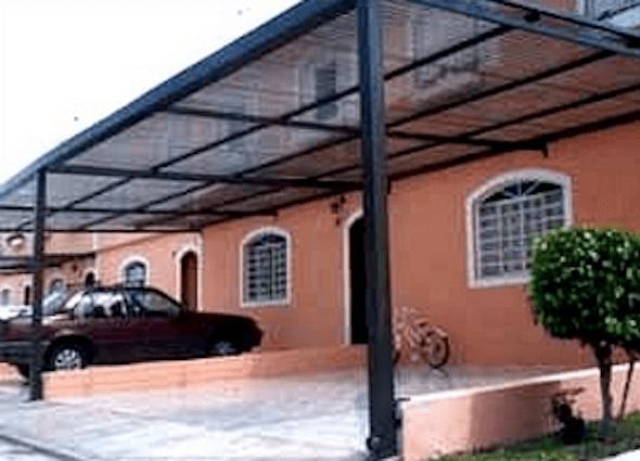 Super Modelo de cobertura para garagem muito usado em residências iguais  WW85