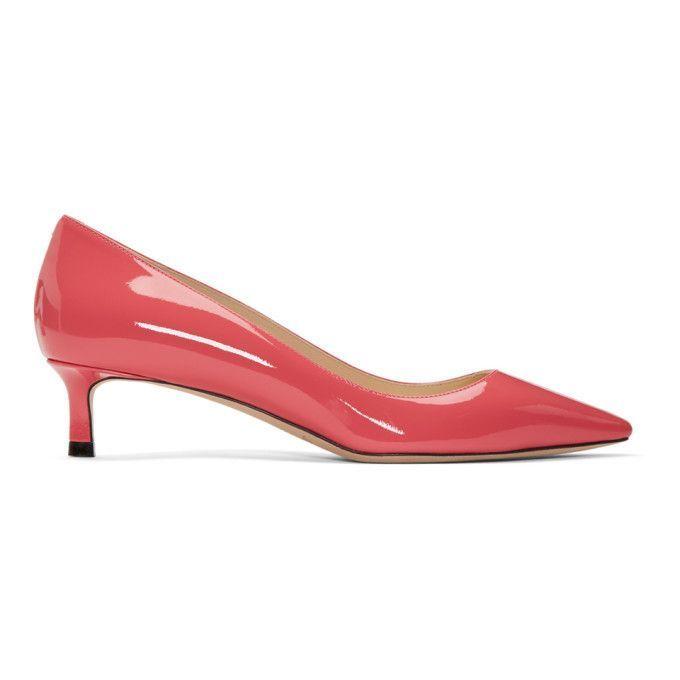 Jimmy Choo Pink Patent Romy 40 Kitten Heels qFeZe6