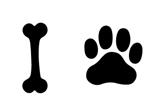 try this free dog bone and paw vector for your designs pawing is rh pinterest com dog paw logo vector dog paw vector art