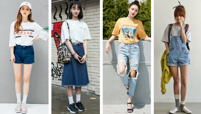 Mau Stylish Ala Cewek Korea Ini Daftar Model Baju Wanita Yang Populer Di Korea Styling Pod Model Pakaian Jalanan Korea Mode Korea Model Baju Wanita