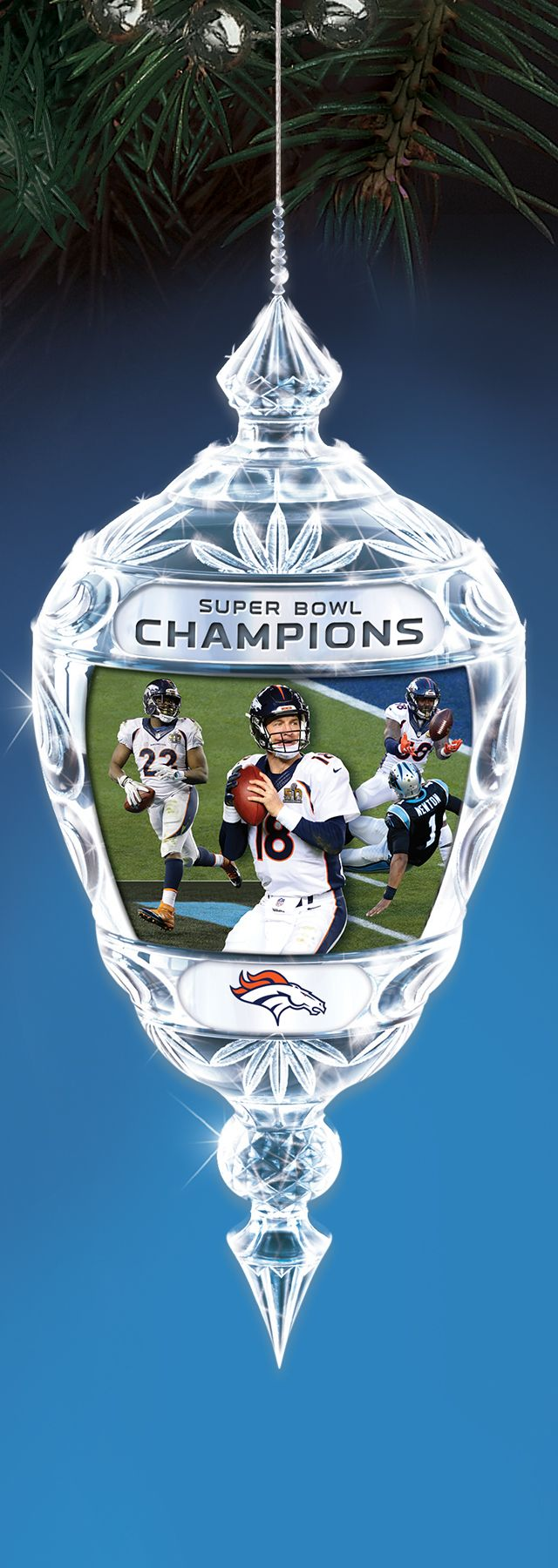 Commemorate the broncos epic super bowl 50 victory with this limited edition crystal christmas - Denver broncos super bowl 50 wallpaper ...