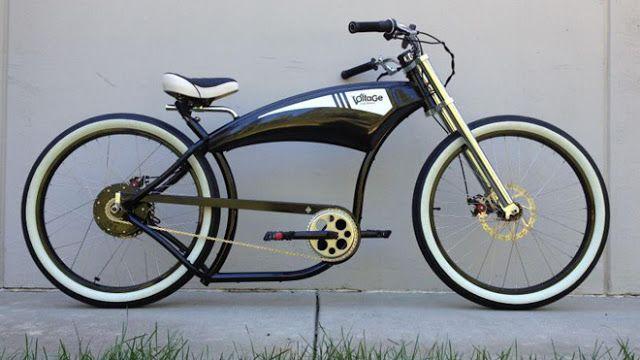 Voltage Cycles Custom E Bikes Motor Junkies Custom Bicycle Bicycle Lowrider Bike