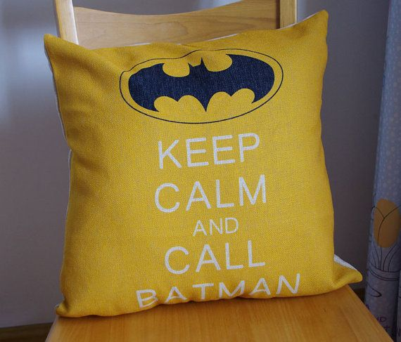 Hey, I found this really awesome Etsy listing at https://www.etsy.com/listing/191731090/keep-calm-and-call-batman-pillowbatman
