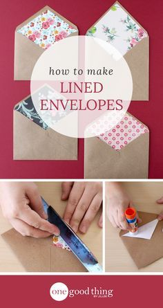Scrambling for last-minute Valentine's ideas? Look no further than these cute and easy custom lined envelopes to slip your card into!