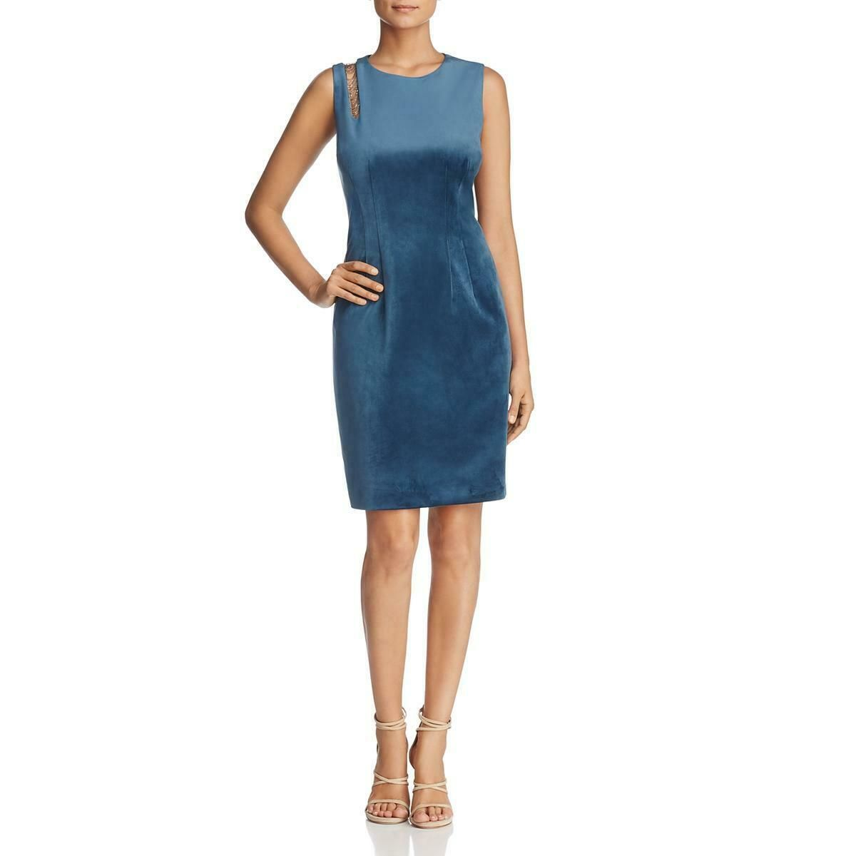 Elie Tahari Womens Emory Velvet Party Knee Length Cocktail Dress Bhfo 8537 Dress Honey Cutout Shoulder Dress Mini Dress Formal Knee Length Cocktail Dress [ 1200 x 1200 Pixel ]