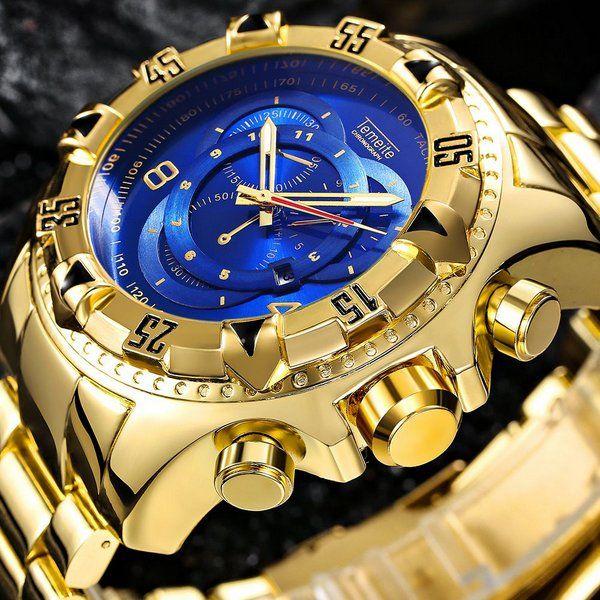 53985aa7761 Relogio Masculino Dourado Temeite - Dali Relógios