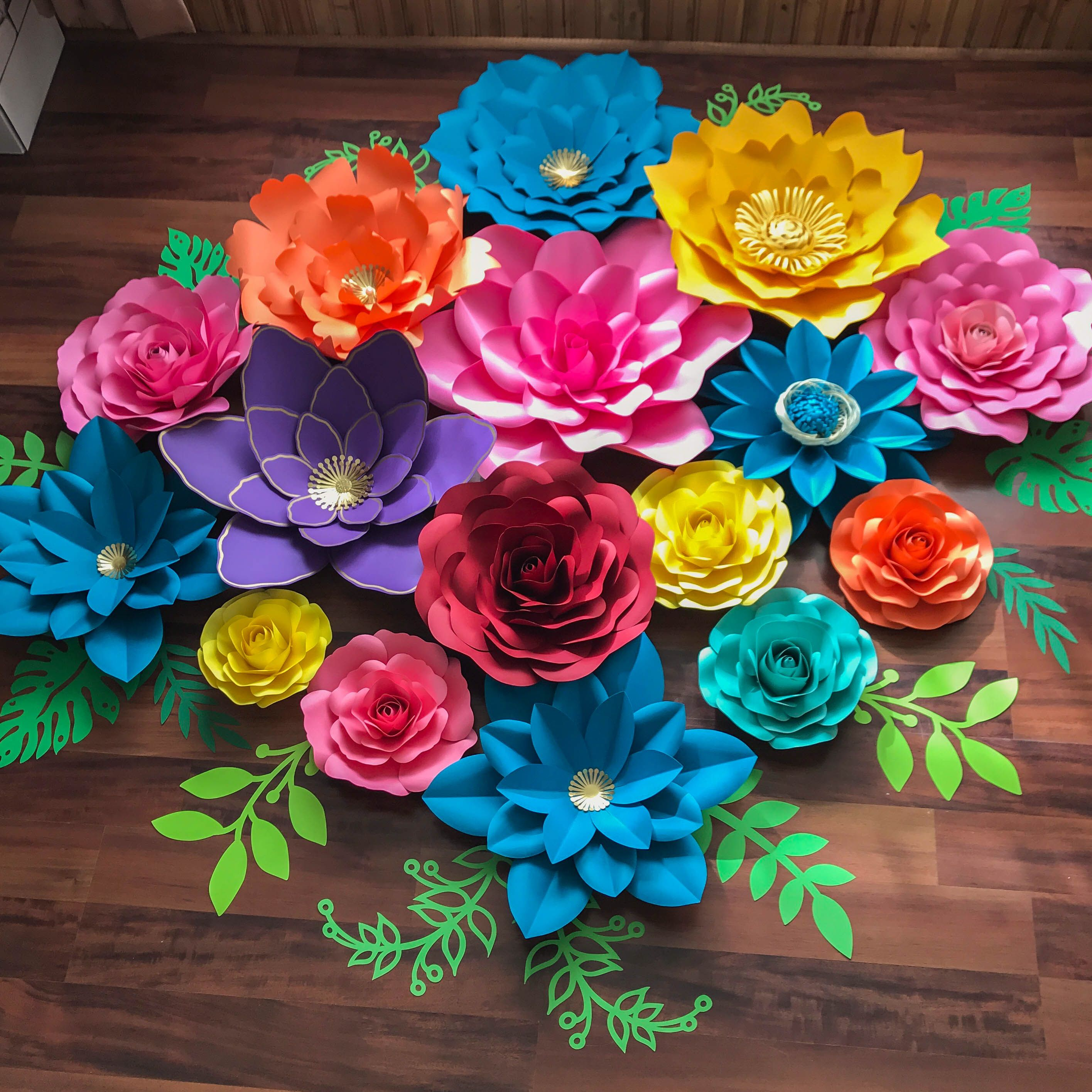 Fiesta Set In Different Paper Flower Template Designs Make Your Own