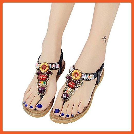Lady Sandals - Franterd Women Bohemia Peep-Toe Outdoor Flat Shoes