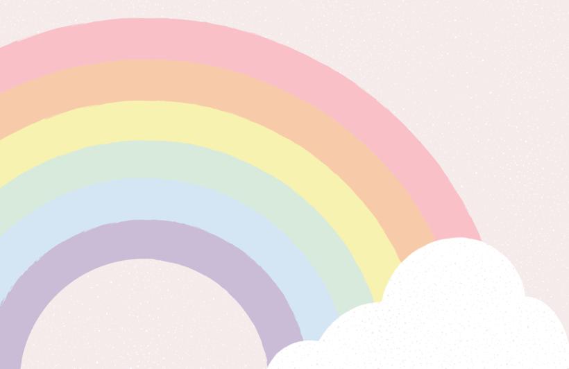 Kids Pastel Rainbow Wallpaper Murals Wallpaper In 2020 Rainbow Wallpaper Rainbow Bedroom Pastel Rainbow