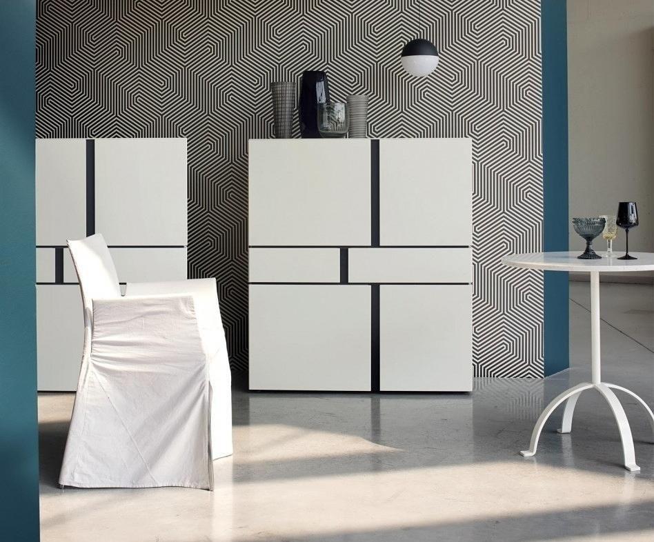 Das moderne Livitalia Abaco Highboard mit geradlinigem Design - schrank für wohnzimmer