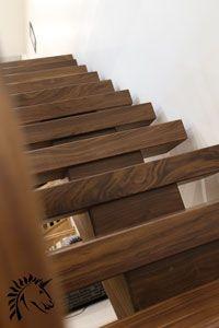 High Quality Vlack Walnut Staircase X Vision Treads