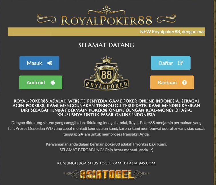 Royal Poker88 Adalah Situs Game Poker88 Online Di Indonesia Dengan Real Money Menjadikan Pemain Poker Yang Tangguh Sebagai Dewapoker Http Game Website Poker