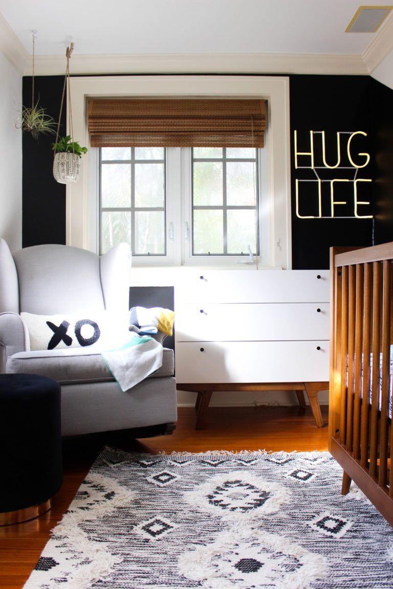 Modern Boho Nursery Project Nursery Modern Baby Room Nursery Accent Wall Black Accent Walls