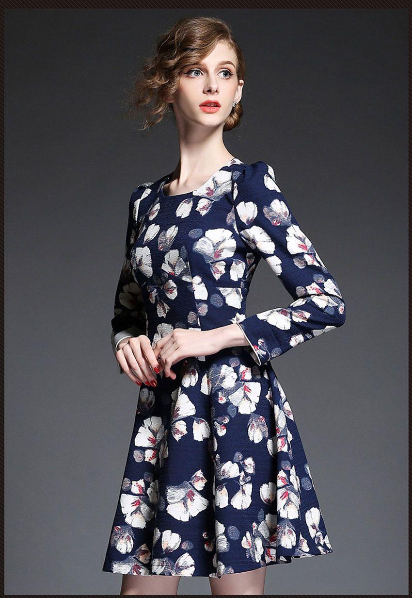 >> Click to Buy << European 2016 New Arrival Spring and Autumn women dress A-line dress Long sleeve women dress Free Shippment  #Affiliate
